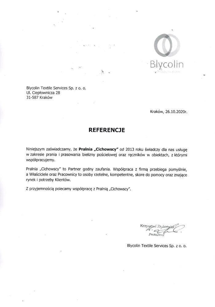 referencje Blycolin